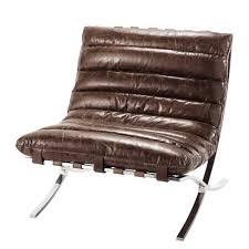 fauteuil de la maison fauteuil cuir marron beaubourg maison de monde 699 furnitures