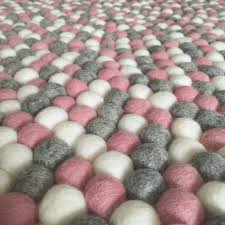 Wool Ball Rug Felt Ball Rug Marble Blush U2013 Winston Grace