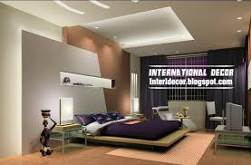 Modern Pop False Ceiling Designs For Bedroom Interior Gypsum - Fall ceiling designs for bedrooms