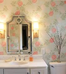 bathroom stencil ideas create a wallpaper look with a floral stencil stencil stories