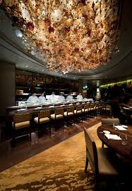 nobu restaurant in perth with ice international handtufted wall to