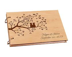 rustic wedding album wedding guest book personalized wood wedding photo album custom