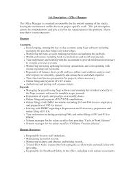 Resume Sample Office Manager by Resume Job Description Office Manager George Tucker Resume