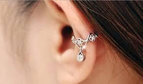 conch piercing cuff bijou drop ear cuff earrings mybodiart