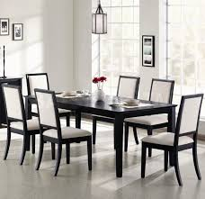 furniture rectangle black glass dining table and four black