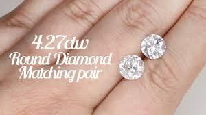 diamond stud size 4 27ctw e color diamond stud earrings 4 carat