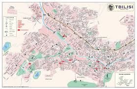 Map Of Georgia Cities Large Detailed Map Of Tbilisi City Central Part With Street Names