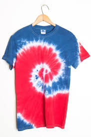 red blue spiral tie dye shirt ragstock