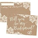 Ask Bridesmaids Cards Amazon Com Will You Be My Bridesmaid Cards 5 5 X 4 25 Inches