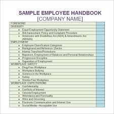 employee handbook template 6 free pdf doc download