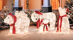 Polar Bear Decorations For Christmas by Winter Wonderland Outdoor Christmas Decoration Ideas