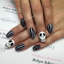 halloween nails jack style gel nails coffin nails nails