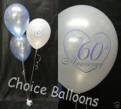 60th wedding anniversary decorations diamond 60th wedding anniversary balloons 5 decorations 60 wedding