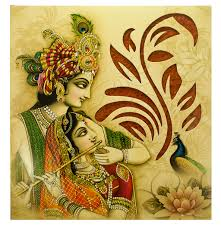 hindu wedding cards wedding card with radha krishna images