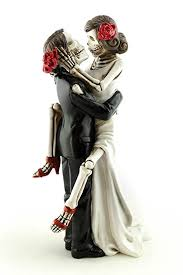 skeleton wedding cake topper wedding collectibles day of the dead skulls