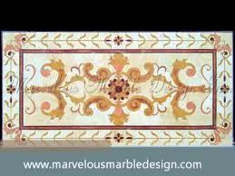 luxury custom water jet marvelous marble floor design