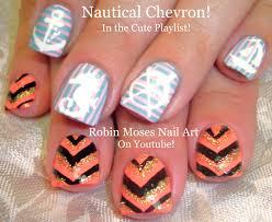 chevron tape nail art tutorial robin moses nail art nautical nails and sparkley summer chevron