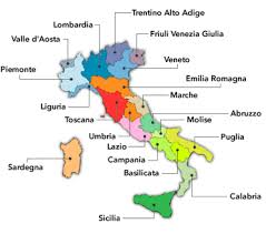 provinces of italy map list of italy provinces listed alphabetically given