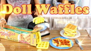 diy how to make doll food waffles handmade doll breakfast