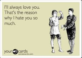 Love Hate Meme - i ll always love you that s the reason why i hate you so much