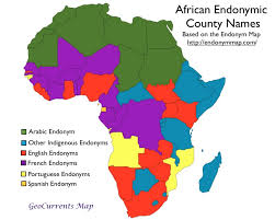 map of africa with country names country names in indigenous languages geocurrents