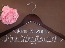 personalized wedding hangers bridal hanger with date personalized custom bridal hanger brides