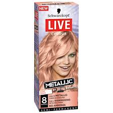sachets of hair colours 2015 buy live colour metallic rosé gold 1 pack by schwarzkopf online