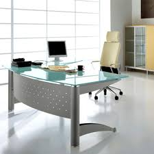 Office Desk Glass Top Glass Top Contemporary Office Desks All Contemporary Design
