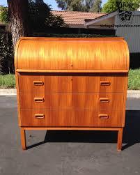 teak roll top desk danish modern teak roll top secretary desk by egon ostergaard