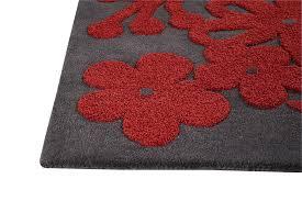 numvar like invcount red floral flowers pattern design wool carpet