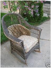 Cushioned Patio Chairs Cushioned Patio Chairs Warm Antique Wicker Rocker Rocking Chair