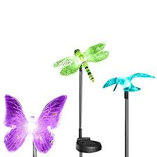 dragonfly solar garden stakes home outdoor decoration