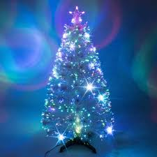 white fibre optic tree lights decoration