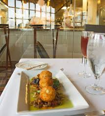 chicago food u0026 drink goat cheese fritters at the dining room at