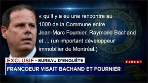 jean marc bureau déclarations choc yves francoeur visait raymond bachand et jean
