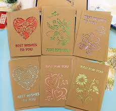 brown christmas cards kraft paper christmas cards greeting hollow creative cards new year