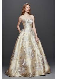 wedding dress with pockets oleg cassini brocade wedding dress with pockets david s bridal