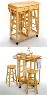 Bar Table And Chairs 15 Practical Space Saving Table And Chair Ideas Small House Decor