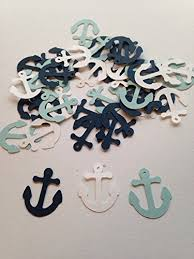 baby shower anchor theme 100 light blue white navy anchor confetti nautical baby