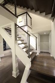 stair railing ideas staircase contemporary with open space dark