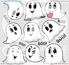 halloween clip art with transparent background clipart of cartoon halloween ghosts saying boo royalty free