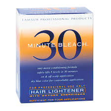 bleach lamaur 30 minute bleach hair lightener