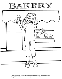 bakery kid free coloring pages kids printable colouring sheets
