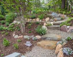 artistic bluestone patio u0026 terraced garden lotus gardenscapes