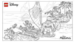 moana u0027s ocean adventure coloring page activities disney lego com