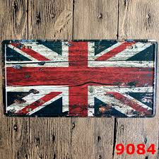 Vintage Flag Art Online Shop 30x15cm England Flag Home Decor Tin Sign For Wall