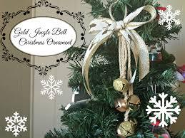 gold reindeer jingle bells ornament christmas diy youtube