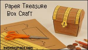 paper treasure box craft view it and do it craft youtube