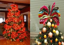 designer christmas tree with ribbon or by wonderful christmas tree