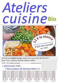 affiche atelier cuisine cours de cuisine bio